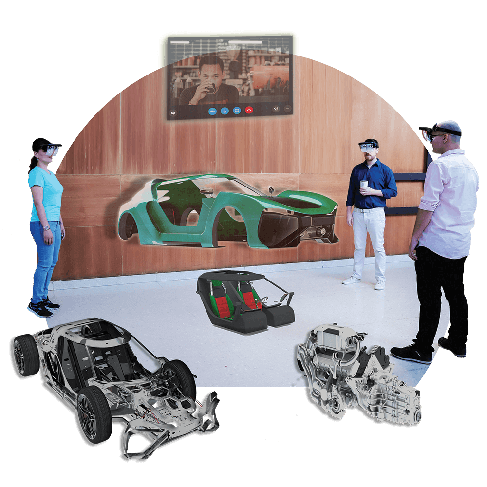 Collaborate With Colleagues Using Holoboard Augmented Reality Headset