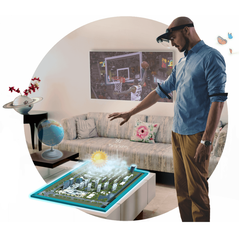 Augmented Reality Experience With Holoboard Augmented Reality Headset